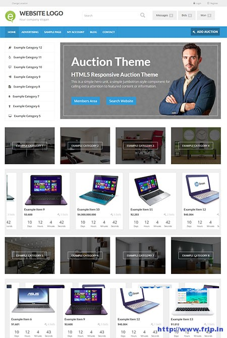 responsive-auction-theme