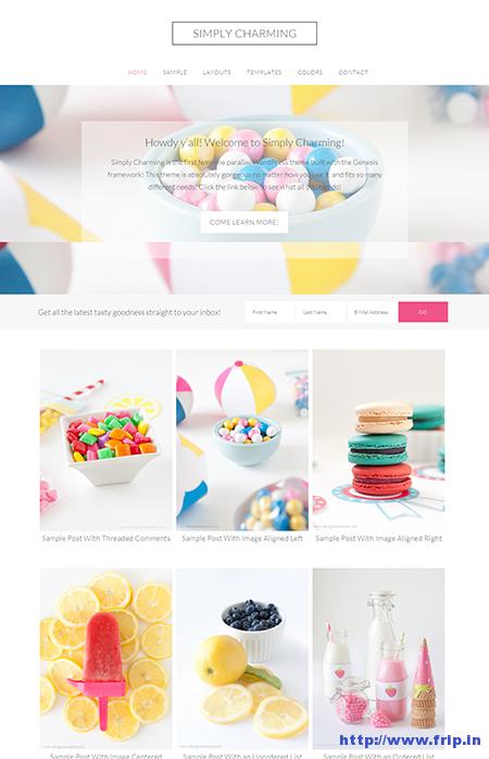 Simply Charming WordPress Theme