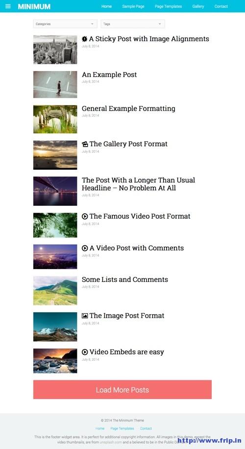 The Minimum WordPress Theme
