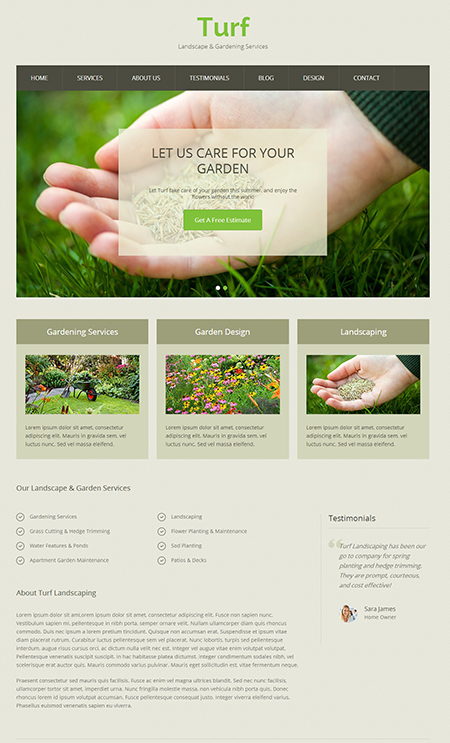 Turf WordPress Landscape Theme