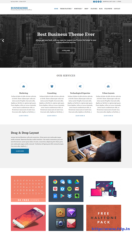 business3ree wordpress theme