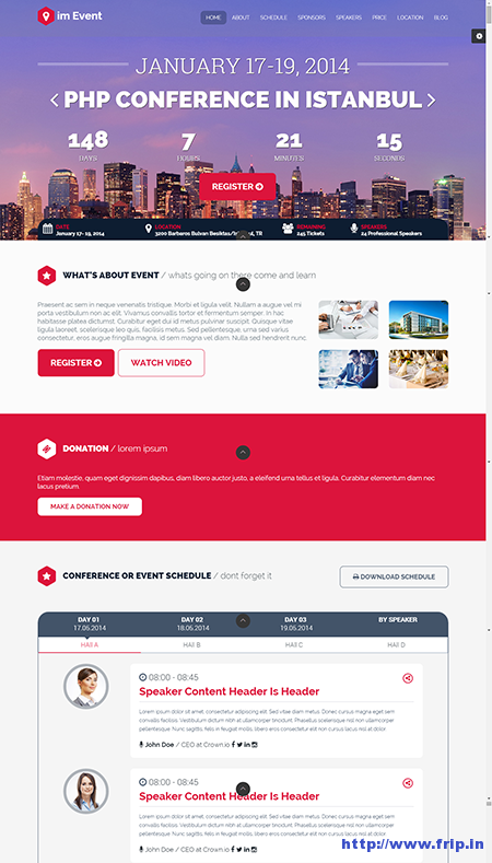 im Event Landing Page Template