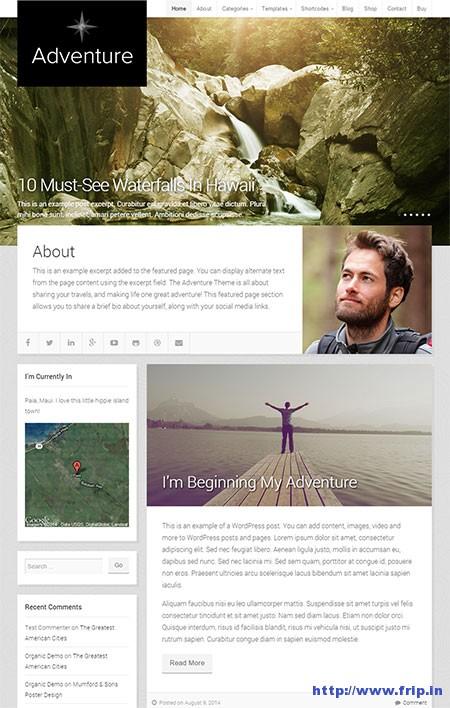 Adventure-WordPress-Theme
