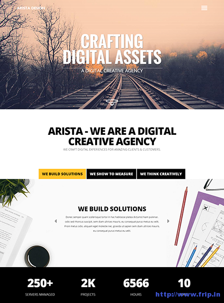 Arista One Page Drupal Theme