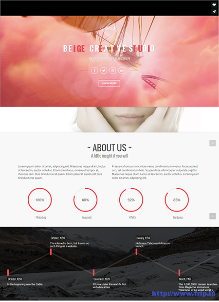 Beige Parallax One Page Drupal Theme