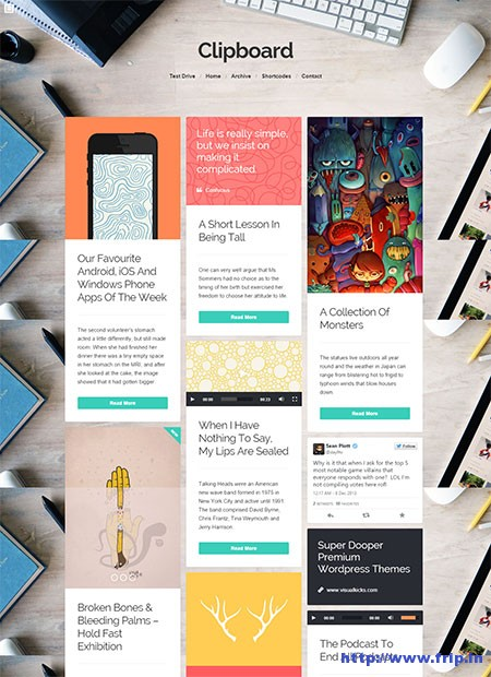 ClipBoard-–-Pinterest-Inspired-WordPress-Theme