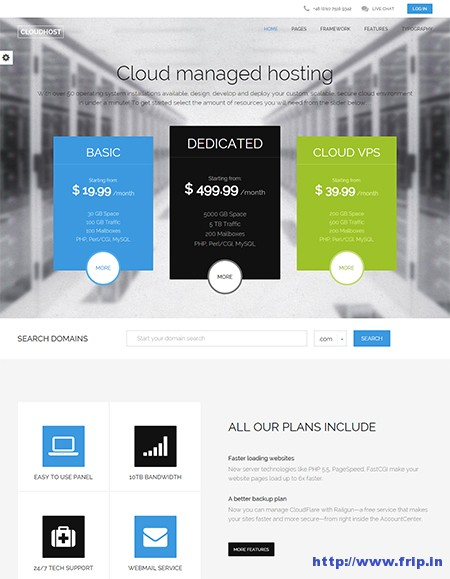 Cloud-Host-WordPress-Theme