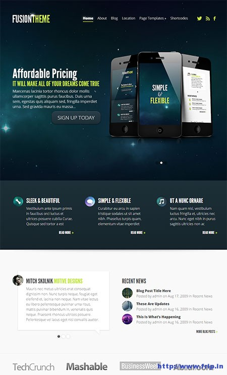 Fusion-app-WordPress-theme
