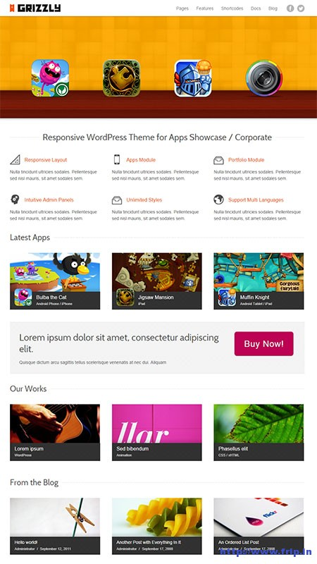 Grizzly-Responsive-App-Theme