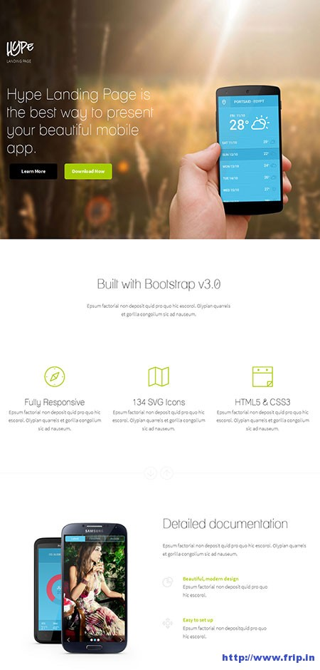 Hype-WordPress-App-Landing-Page