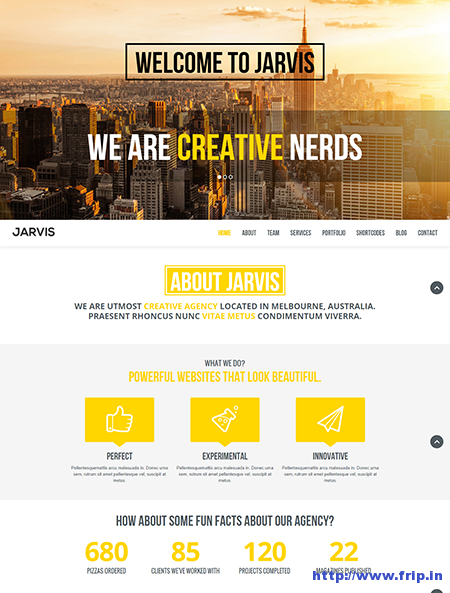 Jarvis One Page Parallax Drupal Theme
