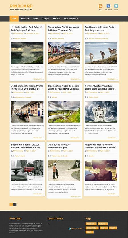 PinBoard-WordPress-Themes
