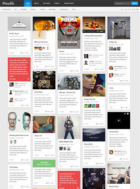 Pinable-WordPress-Theme
