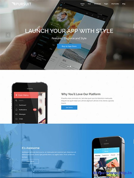 Pursuit-Flexible-App-WordPress-Themes