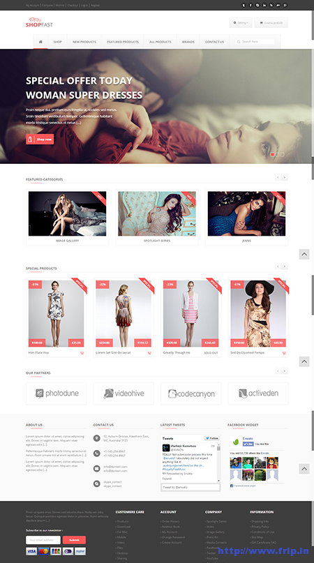 Shopfast Responsive Zen Cart Template