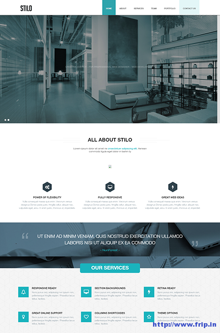 Stilo One Page Drupal Theme