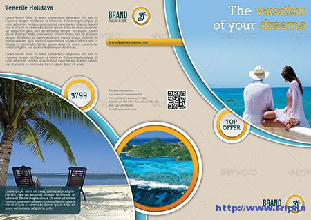 Travel Agency 3 Fold Brochure