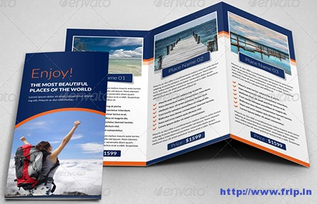Travel Agency Trifold Brochure Templates