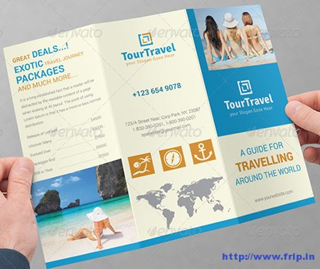Travel  Tourism Tri  Fold Brochure