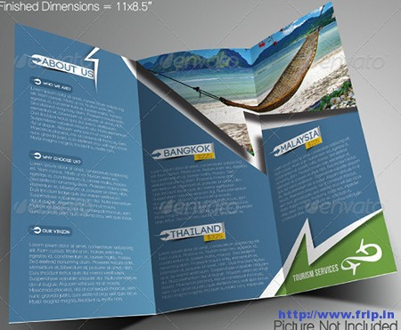 Travel Tours Trifold Brochure