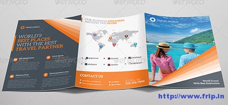 Travel World Trifold Brochure