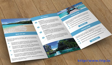 Trifold Brochure Travel