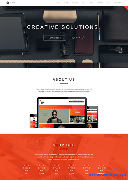 Visia Responsive One Page Drupal Theme