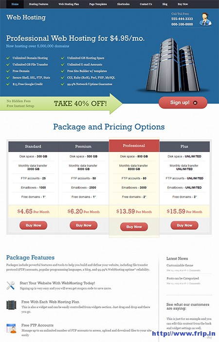 Web-Hosting-WordPress-Theme