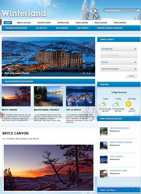 WinterLand-Travel-WordPress-Theme