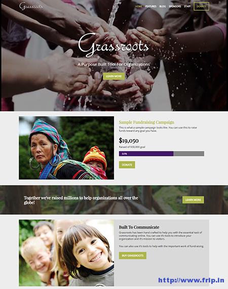 Grassroots WordPress Theme