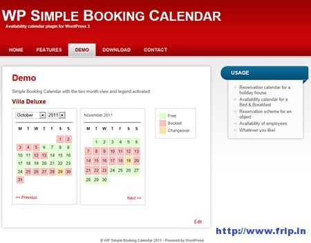 WP-Simple-Booking-Calendar-Plugin