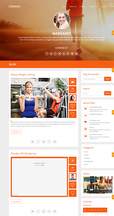 convac responsive wordpress theme