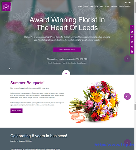 florists pro wordpress theme