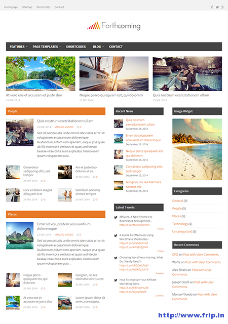 forthcoming wordpress theme