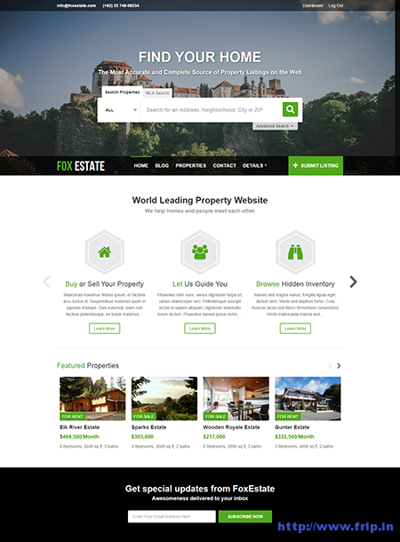 fox estate wordpress theme