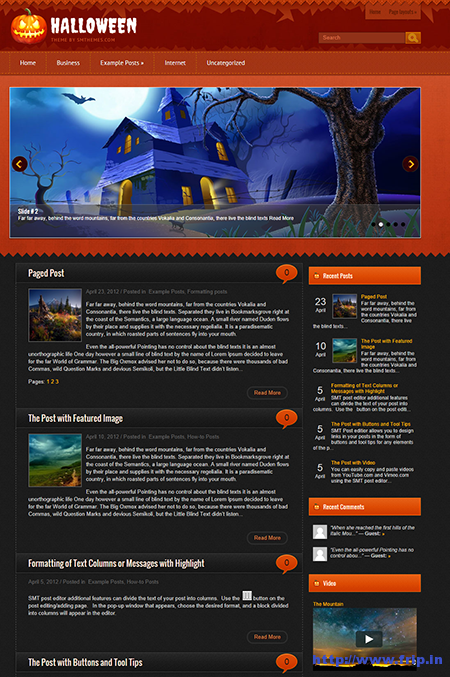 halloween wordpress theme