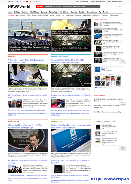 news world wordpress theme
