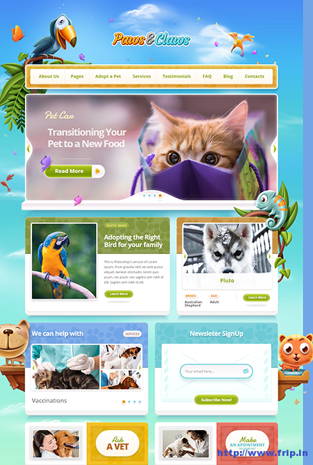 paws and claws wordpress theme