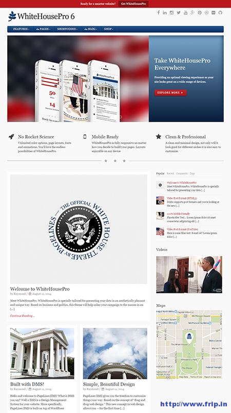 white house pro wordpress theme