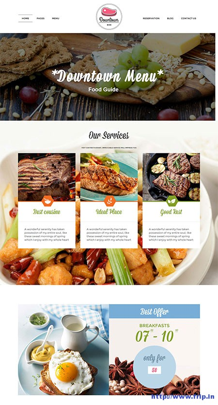 Down-Town-Restaurant-WordPress-Theme