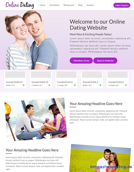 Responsive-Dating-WordPress-Theme