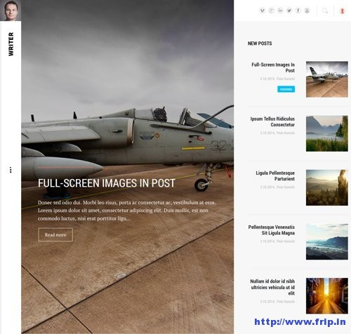 Writer Blogger WordPress Theme