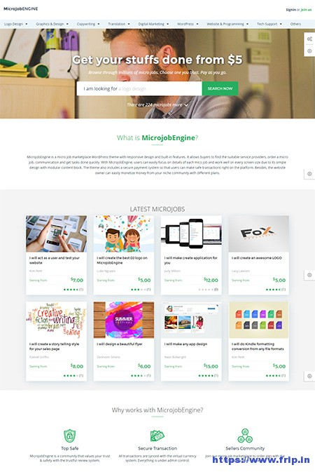 Micro-Job-Marketplace-WordPress-Theme