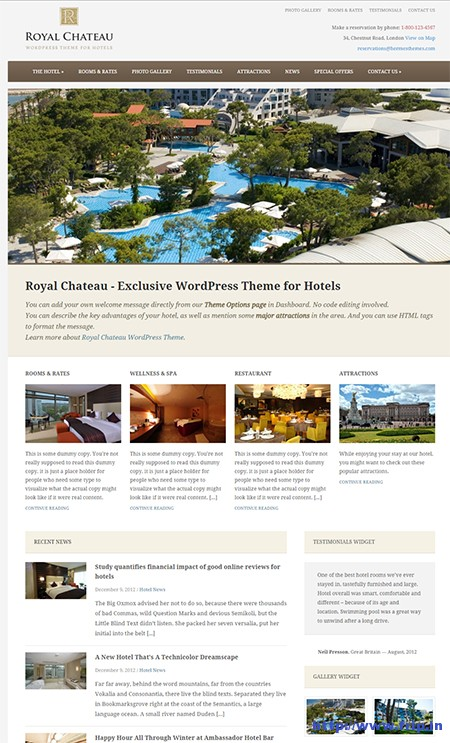 Royal-Chateau-Hotel-WordPress-Theme