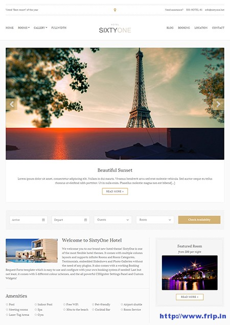 Sixty-One-Hotel-WordPress-Theme