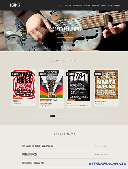 Berliner-Music-WordPress-Theme