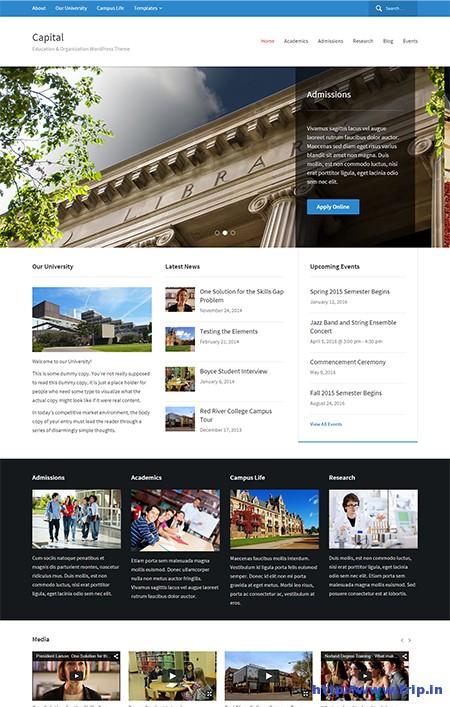 Capital-Education-WordPress-Theme