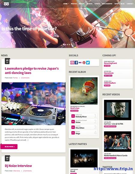 Club88-Music-WordPress-Theme