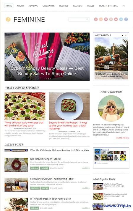 Feminine-Mommy-Blogging-WordPress-Theme