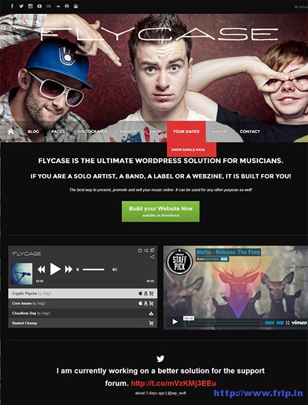 Flycase-Music-WordPress-Theme